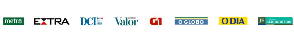 Divulgação na mídia: jornal metro, extra, dci, valor econômico, o globo, o dia, jornal dos economistas e portal G1